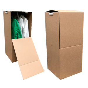 Garderobekasse med plaststang 42-Ribber - Alt til Flytning-- Før du flytter
